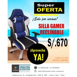 SILLA GAMER RECLINABLE